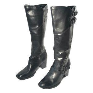 Born Milari Tall Black Leather Military Boots
